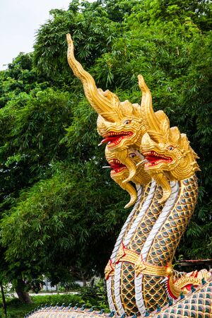 Nagas head in wat thai photo