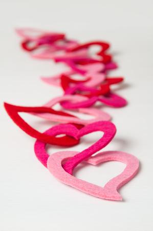 string together: heart garland