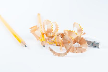 pencils and pencil sharpener for back to school 版權商用圖片