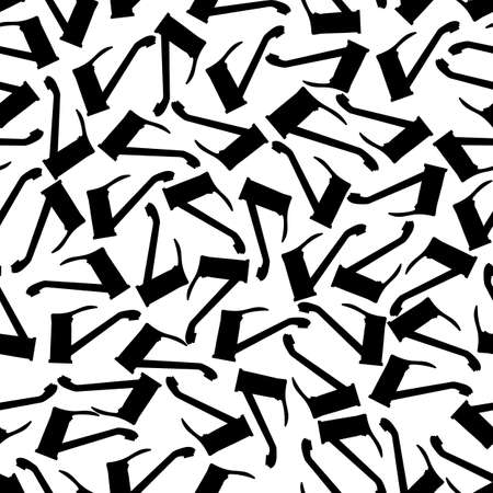 Water tap pattern repeat seamless. Black silhouettes on a white background. Vector illustration.