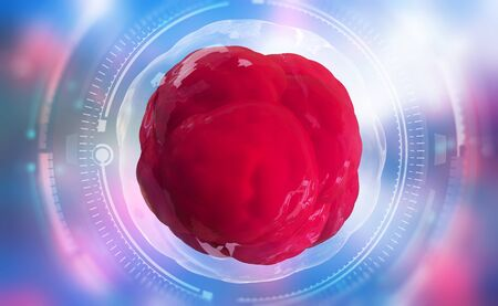 Living cell. Cellular research of the future. 3D illustration of high technology in medicine Banque d'images