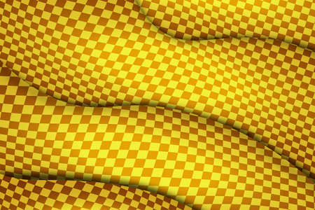 Background of yellow colors in abstract waves with shadows. Illustration design for bank cards, printed matter, banner, poster. Vector image Vector Illustratie