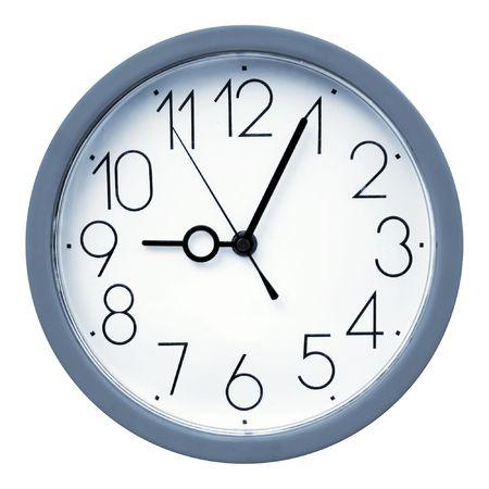 Wall clock traced Stock Photo