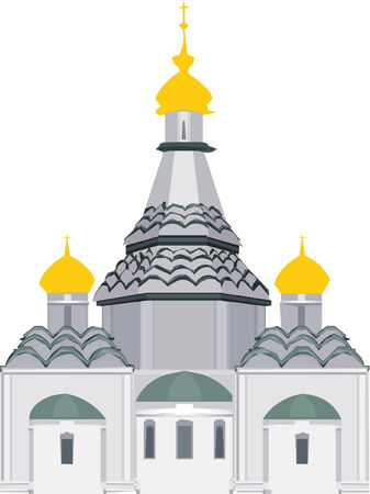 orthodox: Vector orthodox church standing alone