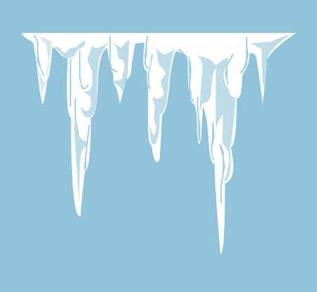 melting: Illustrated melting icicles