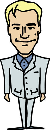 realtor: Illustrated male blond realtor in nice suit Illustration