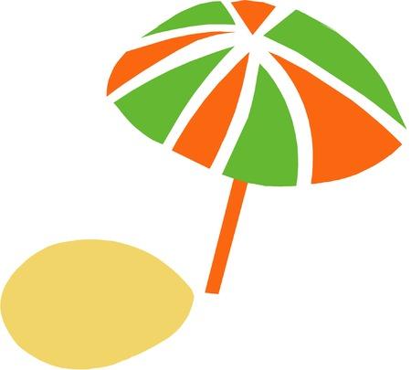 dropping: Vector umbrella dropping a shadow