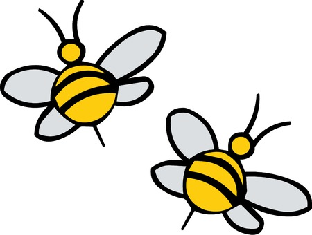 bumblebee: Vector illustreted bees on white background