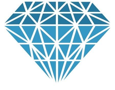 Vector illustrated diamond on white background