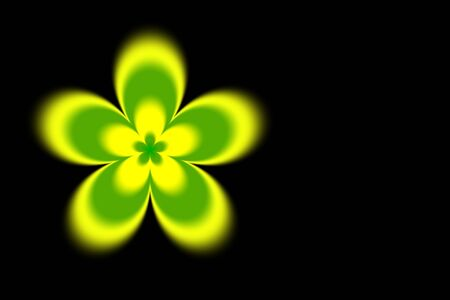 Abstract blurred yellow green flower background Stock Photo