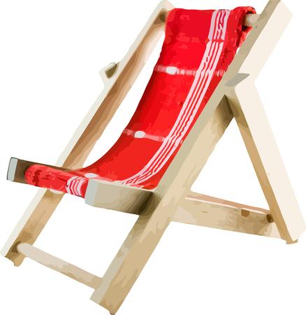 Vector illustrated beach chair isolated