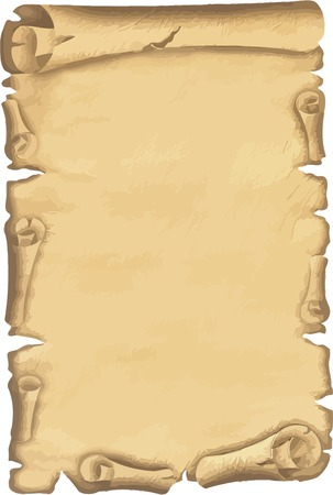 vectorized: Vector illustrated old paper isolated