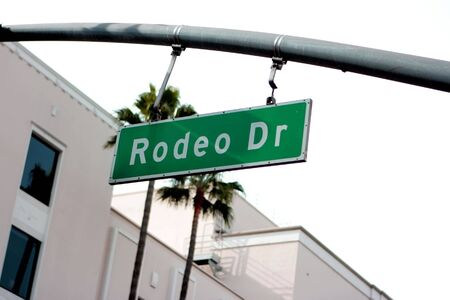 Rodeo Drive sign in Beverly Hills, California Stock Photo