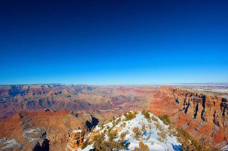 Grand Canyon in winter from the South Rim