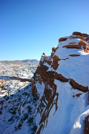 Utah mountains in winter, Arches National Park