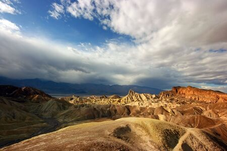 Landscape near Death valley with strange mountains