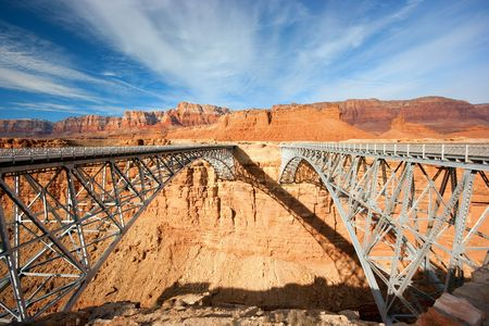 Navajo bridge over the Grand Canyon, Arizona, USA