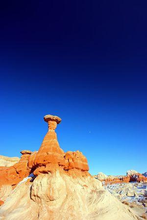Hoodoo stone formation near Page, Arizona, USA Stock Photo