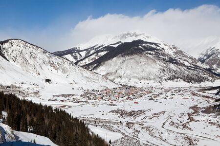 Winter mountains in deep snow in Colorado, USA
