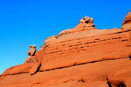 Red rock mountains in Arches national park, Utah, USA Stock Photo