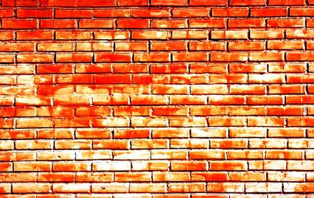 Illustration of a red yellow brick wall Stock Photo