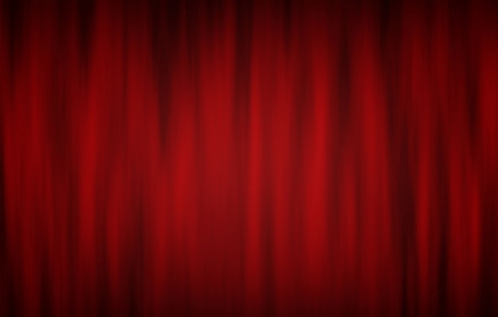 red curtains: Digitally generated red theatre curtains on black