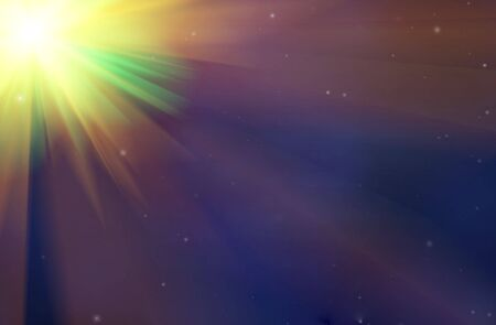 Space background with star shining brightly Stock Photo