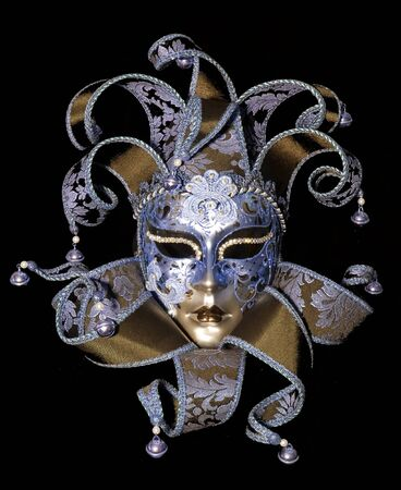 Great traditional venetian mask on black background Stock Photo