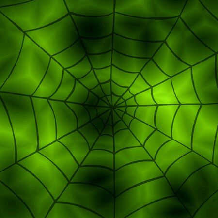 Abstract conceptual computer generated green background with spider net Stock Photo