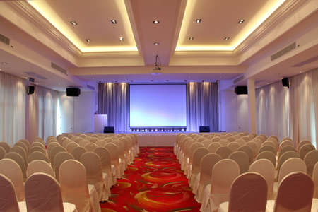 seminar in a hotel conference room. Editorial
