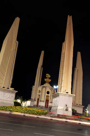 democracy monument: Democracy Monument at night.