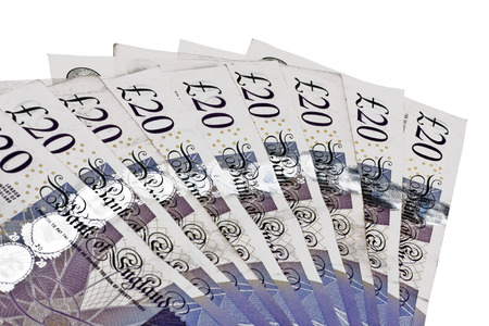 Pile of money british pounds sterling gbp