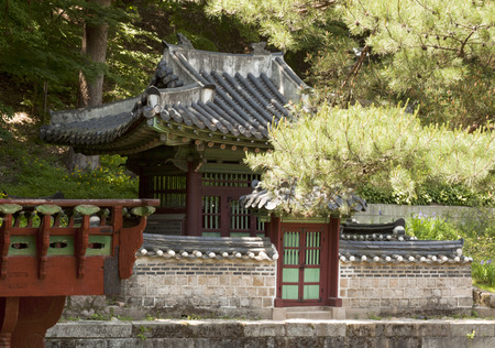 recreational area: Seoul, South Korea- May 21, 2015: Sajeonggibigak, Secret Garden of Changdeokgung Palace, Seoul, South Korea on May 21, 2015 - The forbidden place for the recreational area and retreat for the royal family. The Secret Garden, the secluded rear garden of th