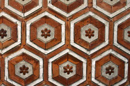 korean style house: Texture of traditional korea brick wall Editorial