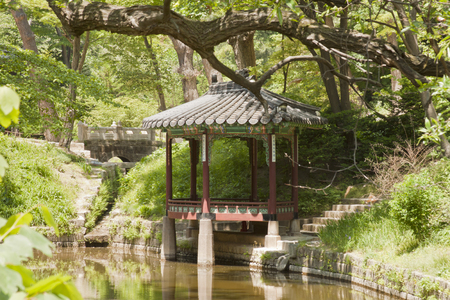 recreational area: Seoul, South Korea-May 21, 2015: Gwallamjeong, Secret Garden of Changdeokgung Palace, Seoul, South Korea on May 21, 2015 - The forbidden place for the recreational area and retreat for the royal family. The Secret Garden, the secluded rear garden of the p