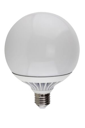 LED Bulb globe  isolated on white background Stock Photo - 126036513