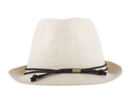 Mens Womens Straw Hat isolated on white background