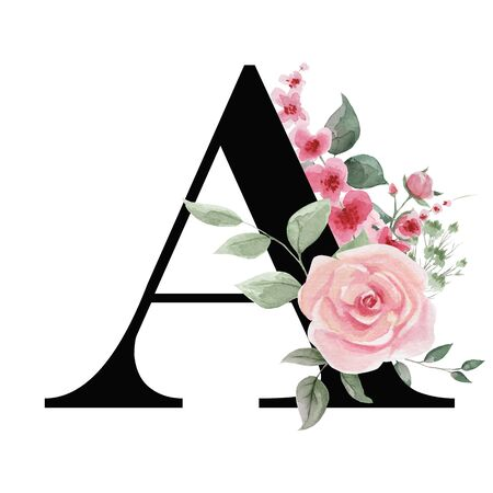 Capital letter A for text design, holiday cards, decor and design of text messages, wedding invitations.