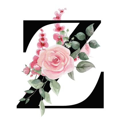 Capital letter Z for text design, holiday cards, decor and design of text messages, wedding invitations.