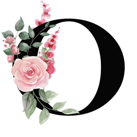 Capital letter O for text design, holiday cards, decor and design of text messages, wedding invitations.