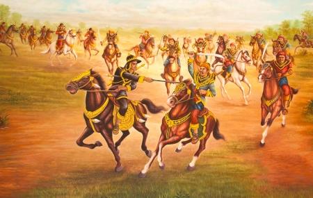 Murals  The battle on Horses