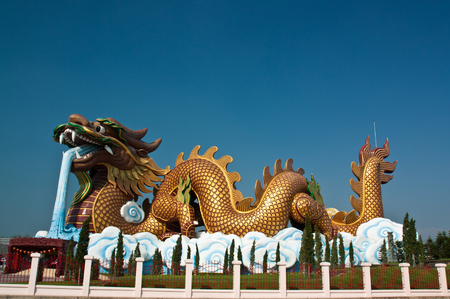Golden Dragon at  Suphanburi, Thailand photo