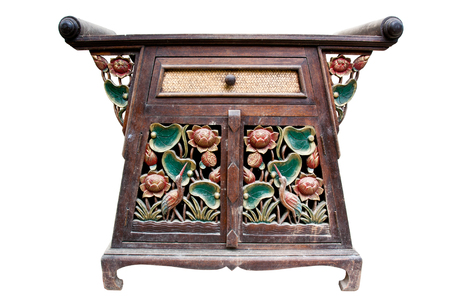 Cabinet Old wood,Thai style photo