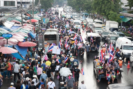 Rally to pressure the government on November 25, 2013 in Bangkok, Thailand