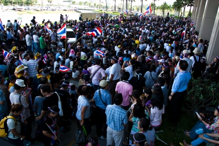 unjust: Demonstrators anti-government on November 27, 2013 in Bangkok, Ratthaprasasanabhakit Building  Thailand