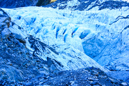 fox glacier: Fox glacier on New Zealand s south island Stock Photo