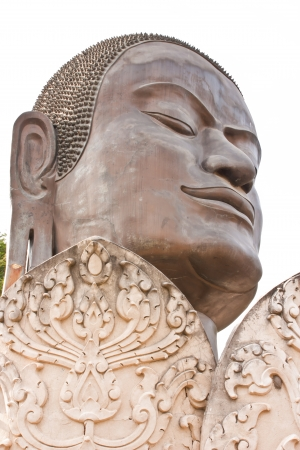 indo china: face of Buddha from the temple of Wat Tummickarat in Ayutthaya Historic Park, Thailand  Ayutthaya