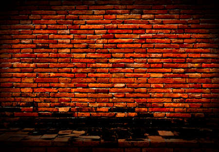 dilapidated wall: Background of a brick wall with an old