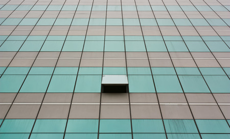open windows: Glass wall with open windows - background   Stock Photo
