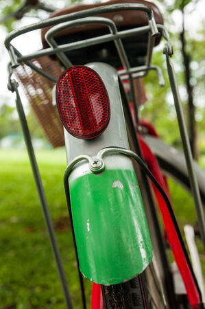 reflectors: Rear red reflectors on bike wheels